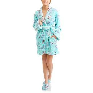 Body Candy Plush Sleepwear Robe & Slipper Set